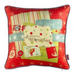 Vánoční povlak na polštář Apolena Comfort Joyful, 43x43cm
