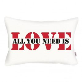 Bílý povlak na polštář Apolena Love Addict, 31 x 50 cm