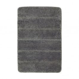 Tmavě šedá koupelnová předložka Wenko Steps, 60x90cm