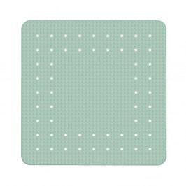 Mátově zelená protiskluzová koupelnová podložka Wenko Mirasol, 54x54cm