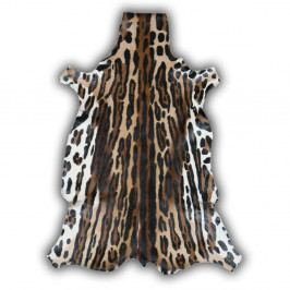 Kožená předložka z gazely s potiskem Pipsa Ocelote, 85x100 cm