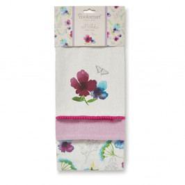 Sada 3 bavlněných utěrek Cooksmart ® Chatsworth Florals