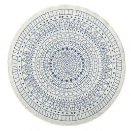 Modrý vzorovaný oboustranný koberec vhodný i na ven bougari Porto, Ø 140 cm
