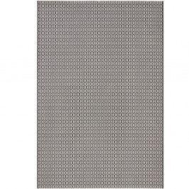 Černo-bílý koberec vhodný do exteriéru Bougari Meadow, 140x200cm