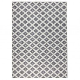 Šedo-krémový oboustranný koberec vhodný i na ven Bougari Nizza, 120x170 cm