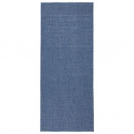 Modrý oboustranný běhoun vhodný i na ven bougari Miami, 80x250 cm