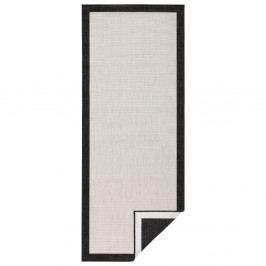 Oboustranný koberec vhodný i na ven v černo-krémové barvě bougari Panama, 80x150 cm