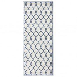 Modrý vzorovaný oboustranný koberec Bougari Rimini, 80x150 cm