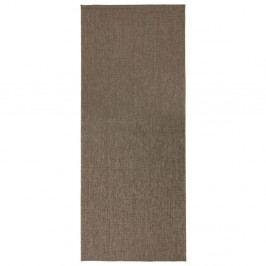 Hnědý oboustranný běhoun vhodný i na ven bougari Miami, 80x350 cm
