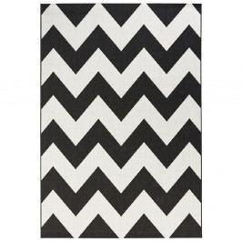Černobílý koberec vhodný do exteriéru Bougari Unique, 120x170cm