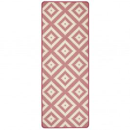 Růžový kuchyňský běhoun Hanse Home LoopDiamond, 67x180cm