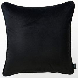Černý povlak na polštář Apolena Velvet, 45 x 45 cm