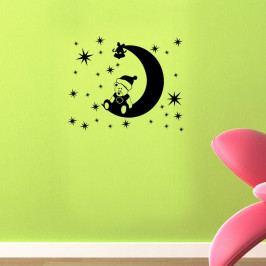 Samolepka na stěnu Teddy Moon, 48x39 cm