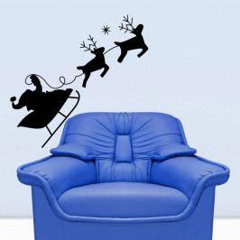 Samolepka na stěnu Christmas Ride, 43x42 cm