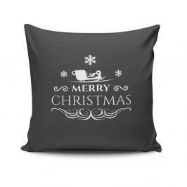 Polštář Merry Christmas In Black, 45x45 cm