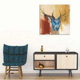Obraz na plátně Colorful Deer,45x45cm