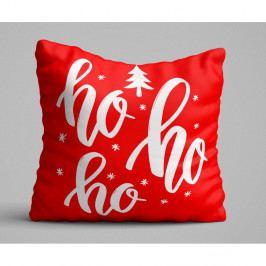 Červený polštář Ho Ho Ho, 45x45 cm