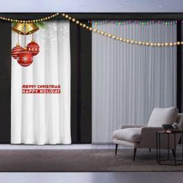 Vánoční závěs Happy Holiday, 140 x 260 cm
