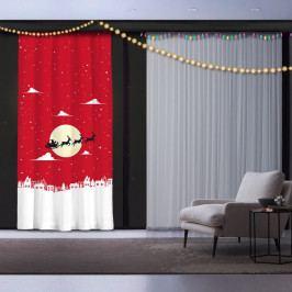 Vánoční závěs Christmas Time, 140 x 260 cm