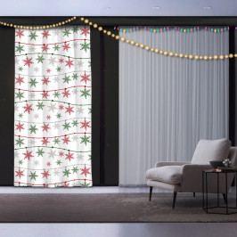 Vánoční závěs Snowflake Star, 140 x 260 cm