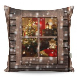 Polštář Christmas Window, 43x43 cm