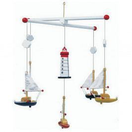 Závěsný kolotoč Legler Sailboat And Lighthouse Mobile