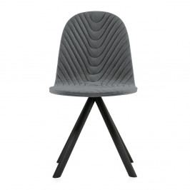Tmavě šedá židle s černými nohami Iker Mannequin Wave