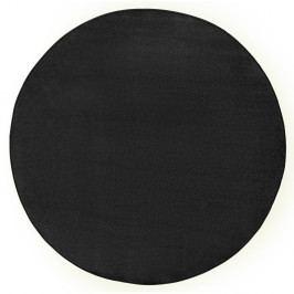 Černý koberec Hanse Home, Ø 133 cm