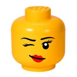 Žlutý úložný box ve tvaru hlavy LEGO® Winky, ⌀ 24,2 cm