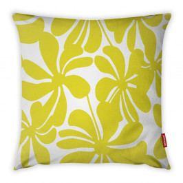 Žluto-bílý povlak na polštář Vitaus Jungle Paradiso, 43 x 43 cm