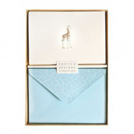 Sada 10 komplimentek s obálkami Portico Designs Giraffe
