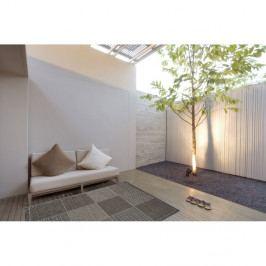 Šedý vysoce odolný koberec vhodný do exteriéru Webtappeti Quadrotta, 133 x 190 cm