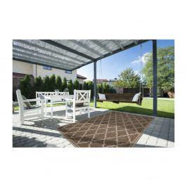 Hnědý vysoce odolný koberec vhodný do exteriéru Webtappeti Intreccio Natural, 160x230cm