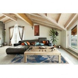 Modrý vysoce odolný koberec vhodný do exteriéru Webtappeti Palms, 160x230cm