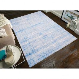 Světle modrý koberec odolný proti skvrnám Floorita Abstract, 80x150cm