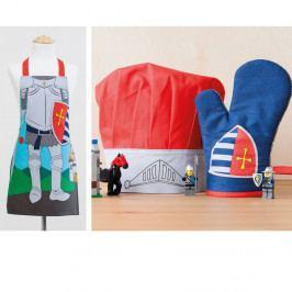 Dětská sada zástěry, čepice a kuchyňské rukavice Ladelle Knight