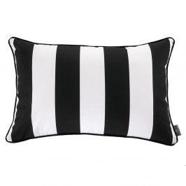Černo-bílý povlak na polštář WeLoveBeds Belts, 40 x 60 cm