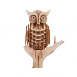 3D puzzle z balzového dřeva Kikkerland Owl