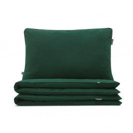 Tmavě zelené dětské bavlněné povlečení na jednolůžko Mumla, 90x120cm