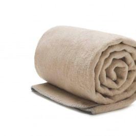 Béžová bavlněná deka Mumla, 200x150cm
