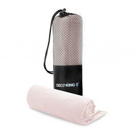 Set růžové rychleschnoucí osušky a ručníku DecoKing EKEA, 70 x 140 cm + 30 x 50 cm
