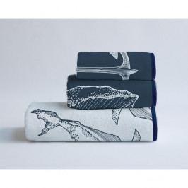 Sada 3 ručníků z bavlny a mikrovlákna Surdic Nautical