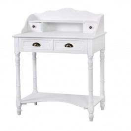 Bílý psací stůl z topolového dřeva Livin Hill Latina