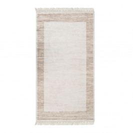 Sametový koberec Deri Dijital Rosuna Brown, 80x150cm