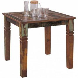 Jídelní stůl z recyklovaného mangového dřeva Skyport KALKUTTA, 80 x 80 cm