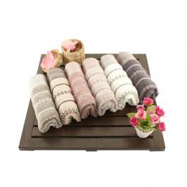 Sada 6 ručníků z bavlny Madame Coco Bombeli Wash, 30x50cm