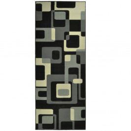 Černý koberec Hanse Home Hamla Retro, 80x300cm