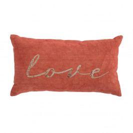 Oranžový bavlněný polštář Bloomingville Cushion Orego, 55 x 30 cm
