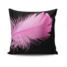 Polštář s výplní Gravel Pink Feather, 42x42cm