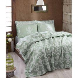 Lehký přehoz přes postel Pure Water Green, 200x235cm